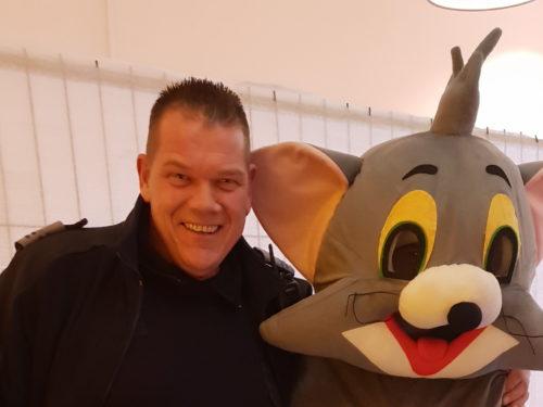 Veranstaltung Eingang mit Mascot